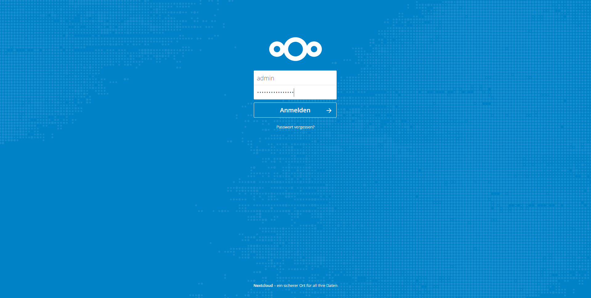 Nextcloud Loginscreen