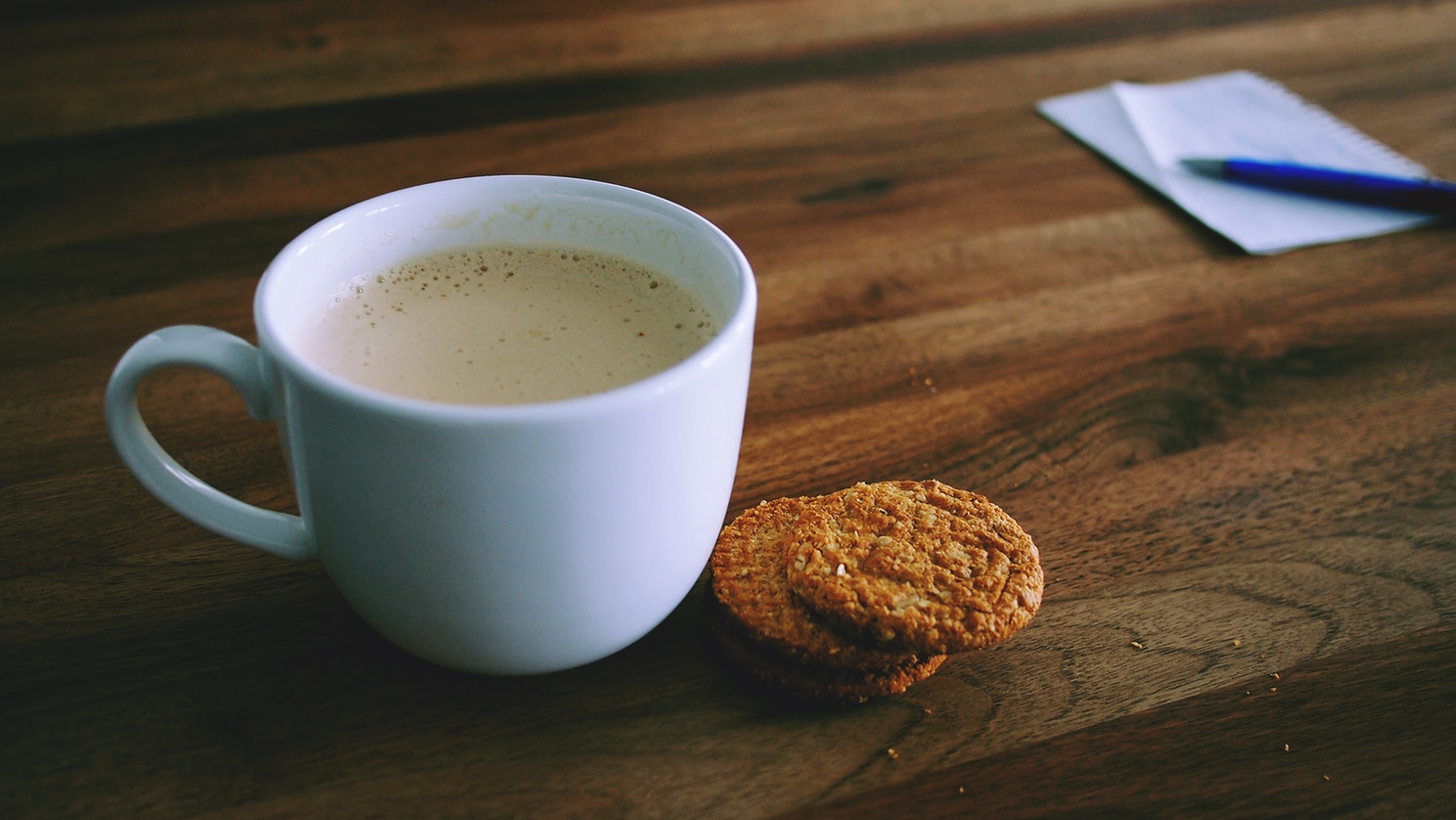 Coffe cup with cookies - Unsplash Moodshot