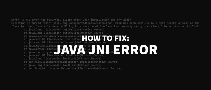 """Error: A JNI error has occurred…"" – So behebst Du den Java Fehler! Thumbnail"